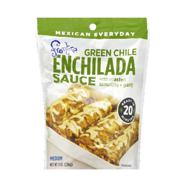 Frontera Green Chile Enchilada Sauce With Roasted Tomatillo Garlic 8oz