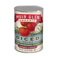 Muir Glen Organic Diced Tomatoes with Basil&Garlic 14.5oz