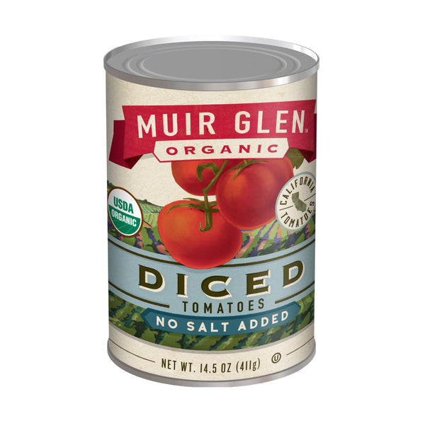 Muir Glen Organic Diced Tomatoes No Salt Added 14.5oz