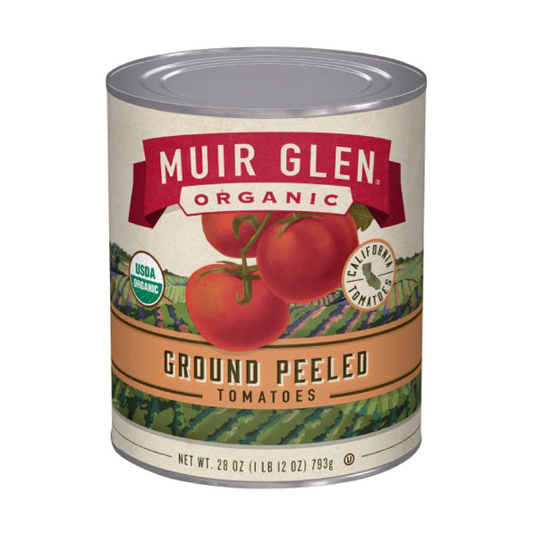 Muir Glen Ground Peeled Tomatoes 28oz