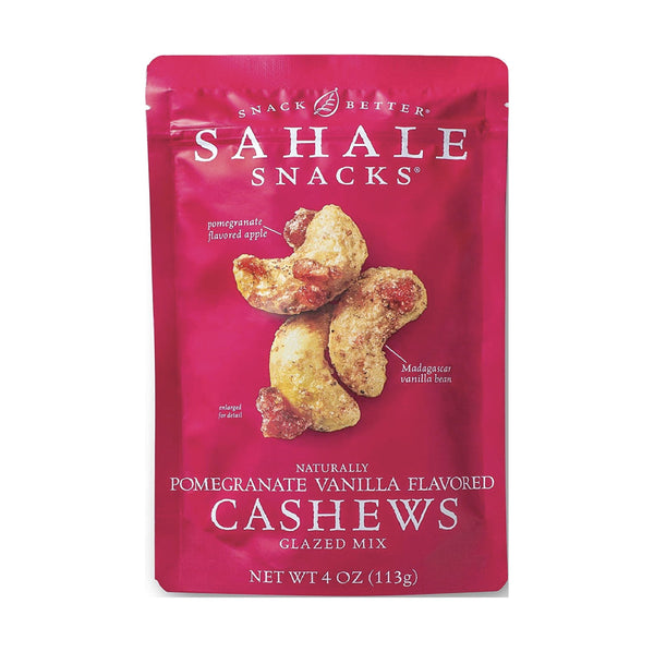 Sahale Pomegranate Vanilla Flavored Cashews Glazed Mix 113g