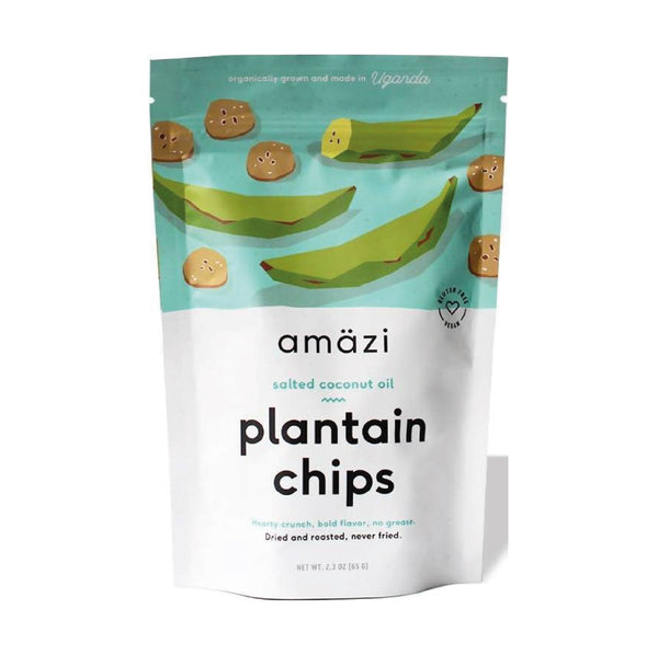 Amazi Plaintain Chips Salted Coconut Oil 65g