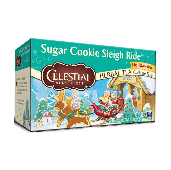 Celestial Seasonings Herbal Tea CF Sugar Cookie Sleigh Ride 20TB