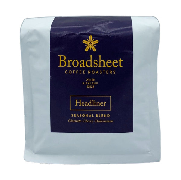 Broadsheet Coffee Headliner Seasonal Blend 12oz.