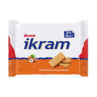 Ulker Ikram Sandwich Biscuits with Hazelnut Cream 3 Pack 252g