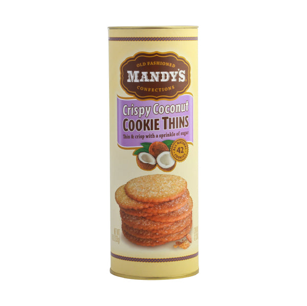 Mandy's Crispy Coconut Cookie Thins 4.6oz (Hindistancevizli Kurabiye Cipsi)