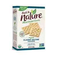 Back to Nature Plant Based Snacks Organic Classic Saltine Crackers 7oz