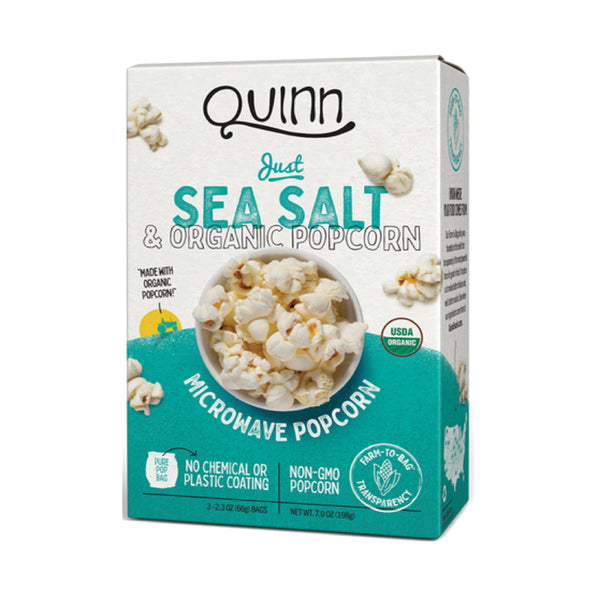 Quinn Just Sea Salt&Organic Microwave Popcorn 3x2.3oz