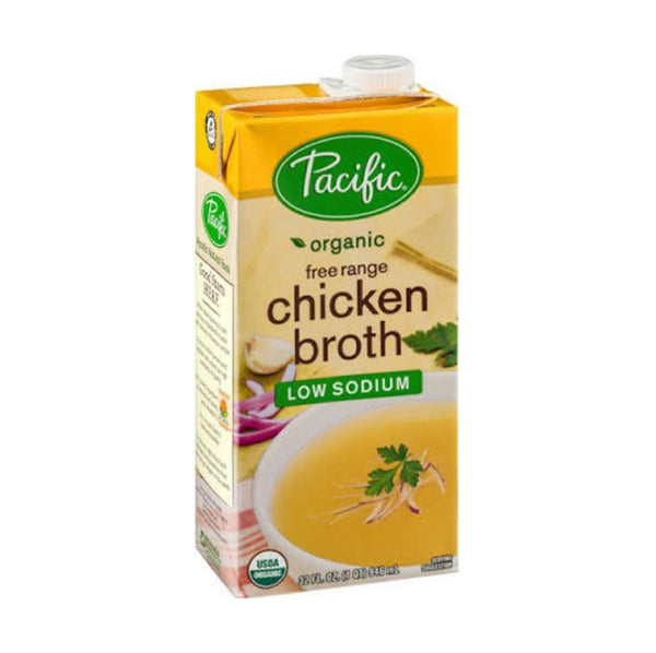 Pacific Free Range Chicken Broth Low Sodium OG 946ml