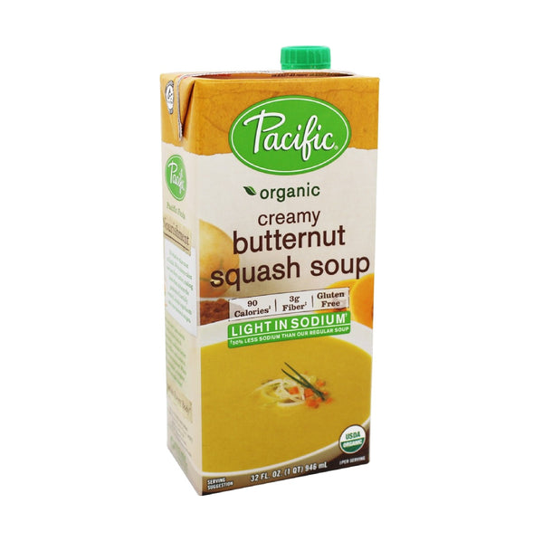 Pacific Butternut Squash Creamy Soup Low Sodium OG 946ml