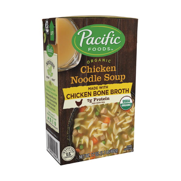 Pacific Chicken Noodle Soup with Bone Broth OG 482g