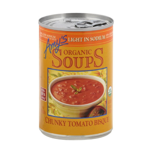 Amy's Chunky Tomato Bisque Low Sodium OG 411g