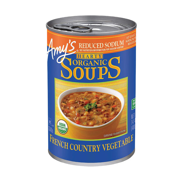 Amy's French Country Vegetable Soup Reduced Sodium 408g