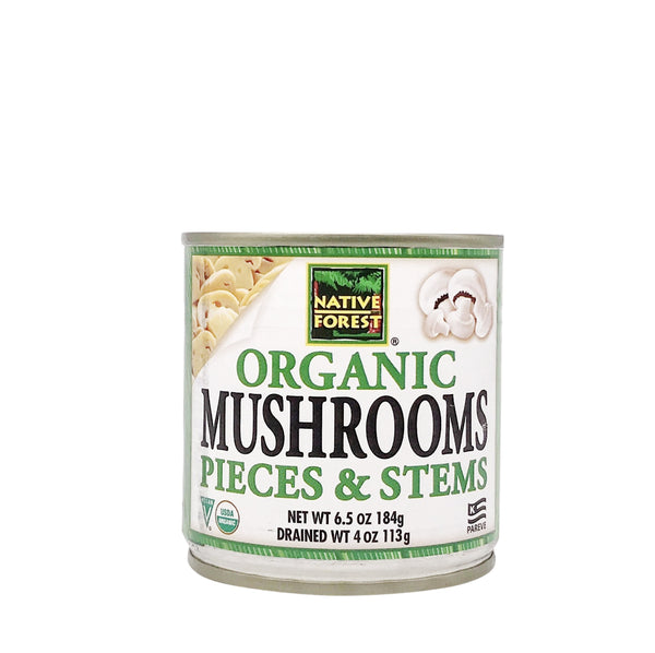 Native Forest Organic White Mushrooms Pieces&Stems (Organik Mantar) 184g