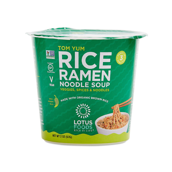 Lotus Foods Tom Yum Rice Ramen Noodle Soup 2oz