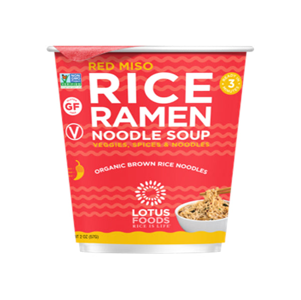 Lotus Foods Red Miso Rice Ramen Noodle Soup 2oz