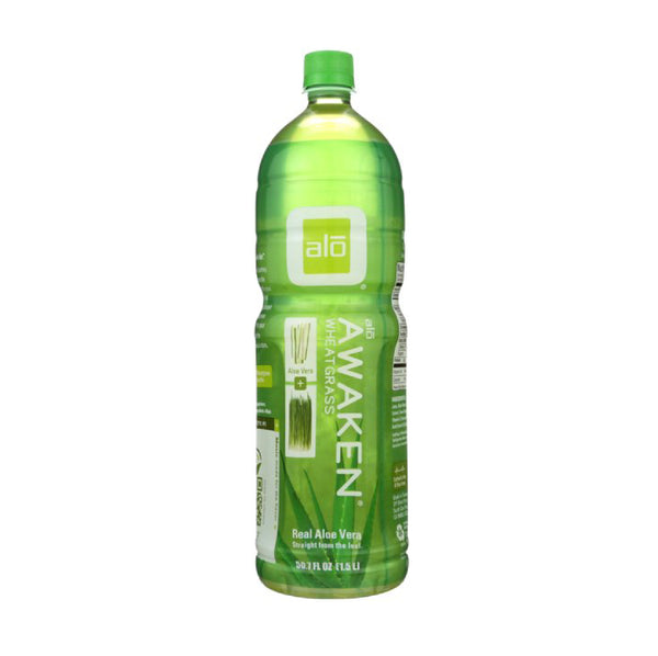 Alo Awaken  Aleo Vera and Wheatgrass Juice Drink 50floz