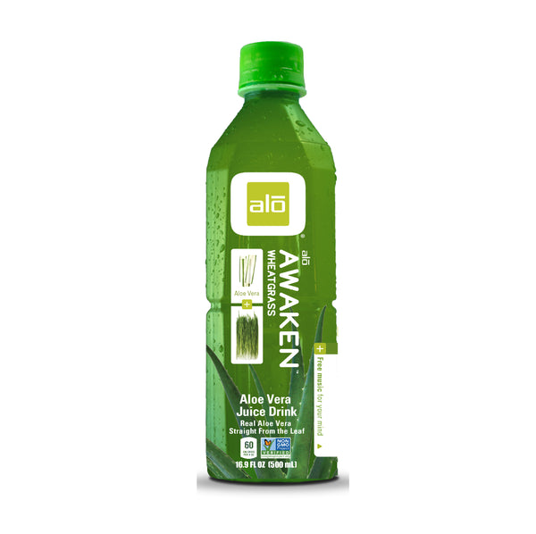 Alo Awaken Aleo Vera and Wheatgrass Juice Drink 16.9floz