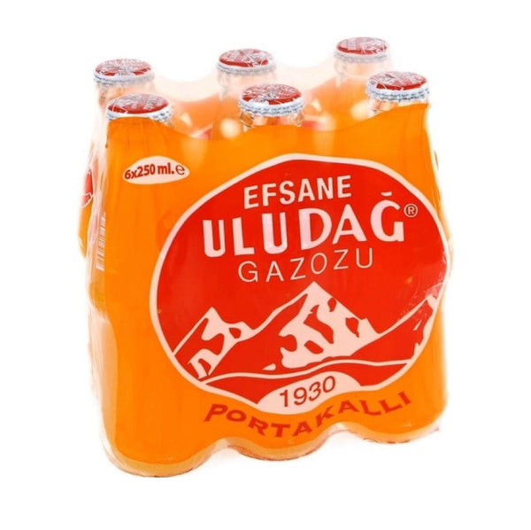 Uludağ Gazoz (Orange Flavored Soda) 6x250ml