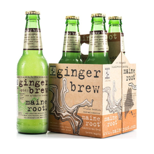 Maine Root Ginger Spicy Brew 4x12oz