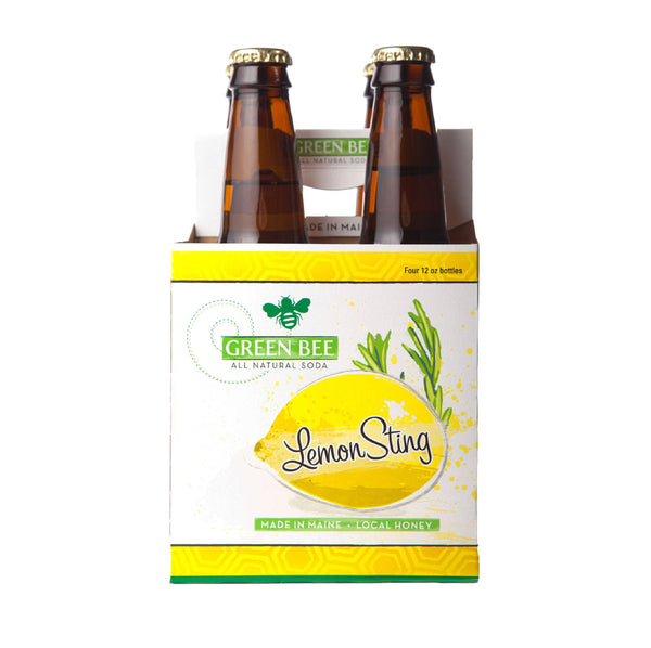 Green Bee Lemon Sting Honey Soda 4x12floz