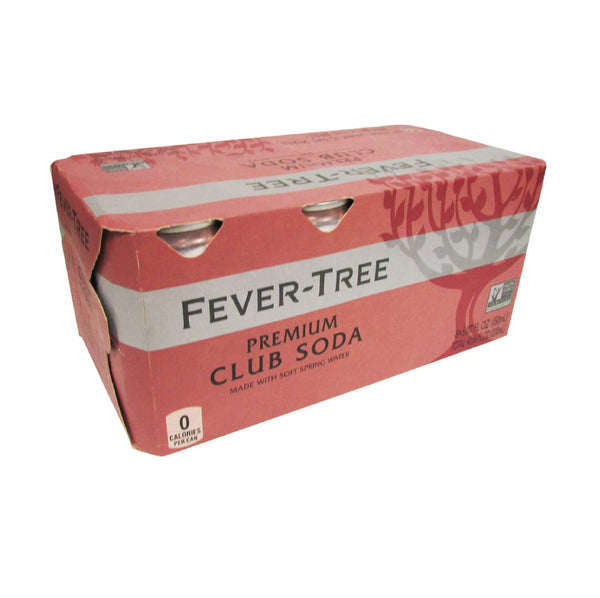 Fever Tree Premium Club Soda Cans 8x5.07floz