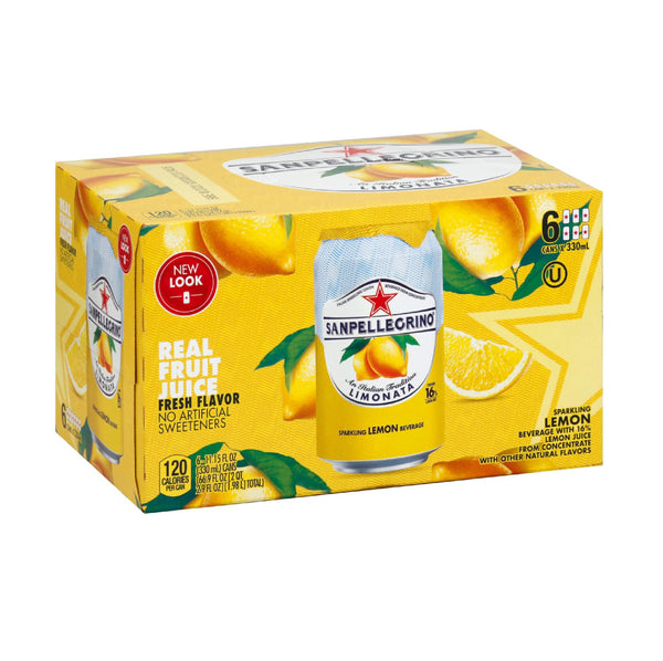 San Pellegrino Limonata (Lemon) Soda Cans 6x11.5oz