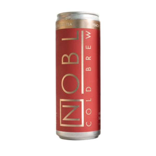 Nobl Cold Brew Black Peach Turmeric Tea 12oz