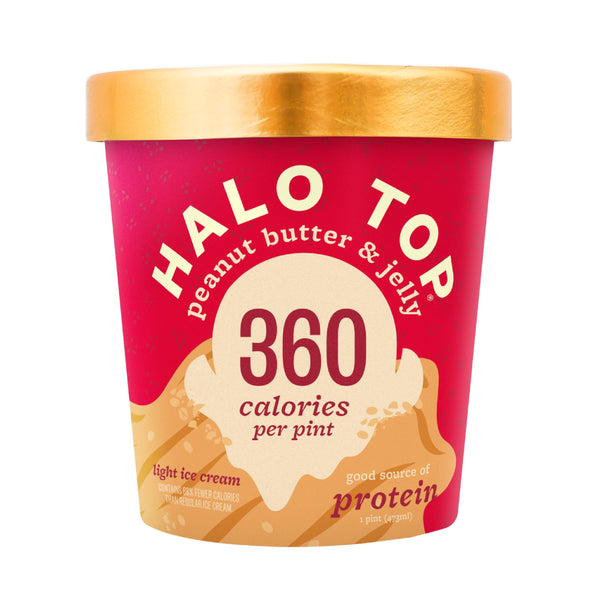 Halo Top Peanut Butter & Jelly Ice Cream (360cal) 1pt