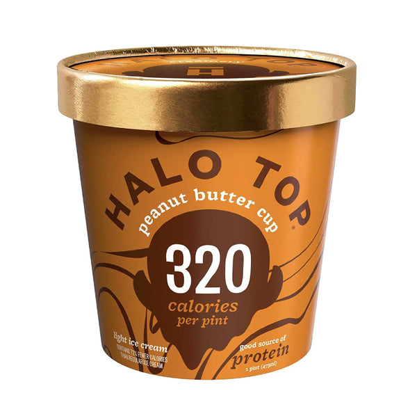 Halo Top Peanut Butter Cup Ice Cream (330cal) 1pt