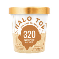 Halo Top Sea Salt Caramel Ice Cream (330cal) 1pt