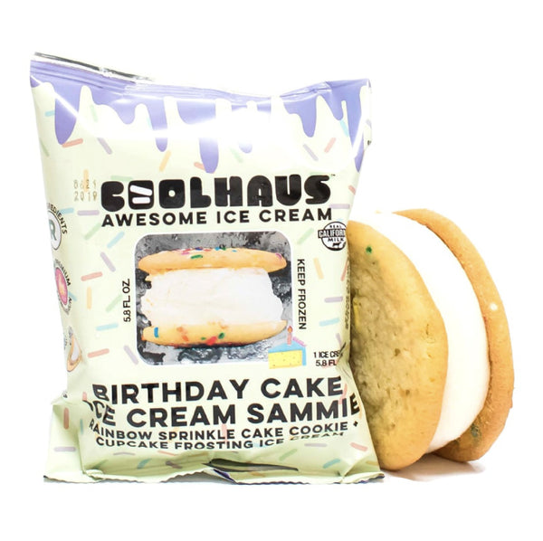 Coolhaus Dairy Free Birthday Cake Ice Cream Sandwich 5.8oz