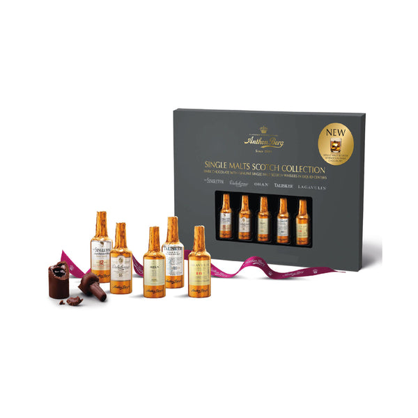 Anthon Berg Dark Chocolate with Genuine Single Malt Scotch Whiskies 10 Chocolate bottles 155g