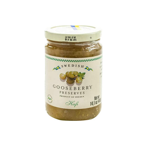 Hafi Swedish Gooseberry Preserves Jar 400g