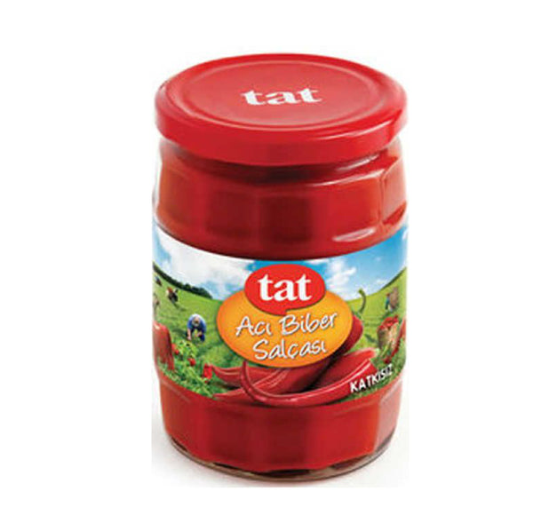 Tat Aci Biber Salçası (Hot Red Pepper Paste) 550g