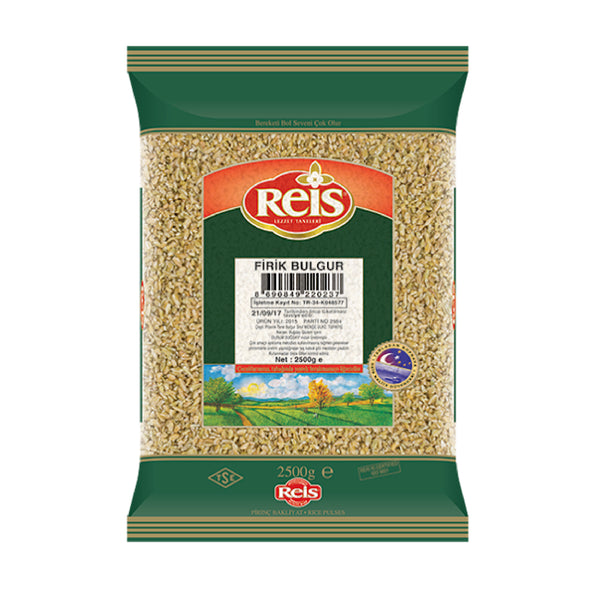 Reis Coarse Firik Green Wheat Freekeh Bulgur (Isli Bulgur) 1000g