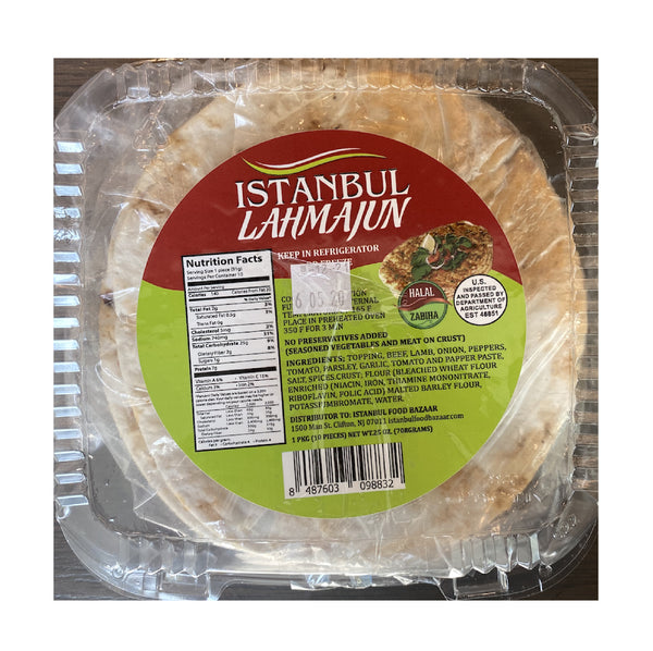 Istanbul Lahmacun Small Size 10pcs (Turkish Pizza)