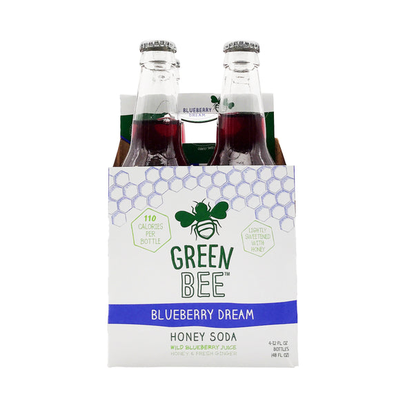 Green Bee Blueberry Dream Honey Soda 4x12floz