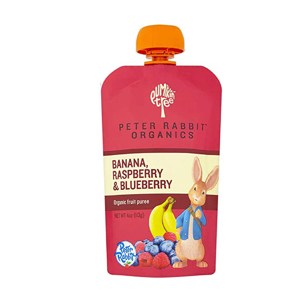 Peter Rabbit Organics Banana, Raspberry&Blueberry 4oz