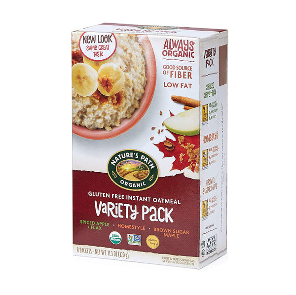 Nature's Path Instant Oatmeal Variety Pack Gluten Free 320g