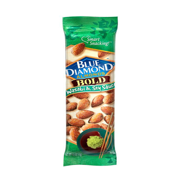 Blue Diamond Almonds Bold Wasabi&Soy Sauce Flavored 1.5oz