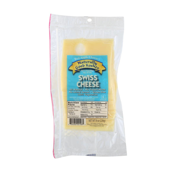 Red Apple Swiss Cheese Slices 8oz