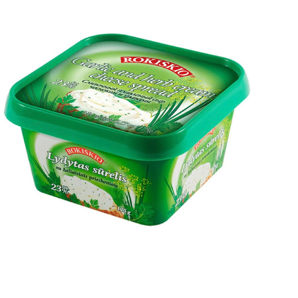 Rokiskio Cheese Spread - Garlic & Herb 175g