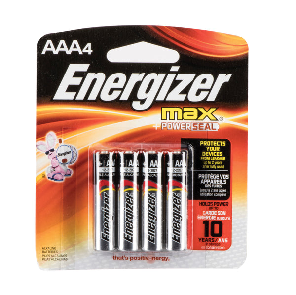 Energizer AAA, 4 pack