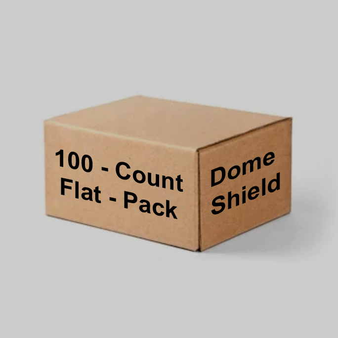 100 Flat-Packed Dome Shields (1 box)
