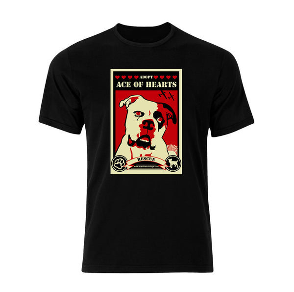 Ace Of Hearts Dog Rescue by Shepard Fairey Logo T-Shirt