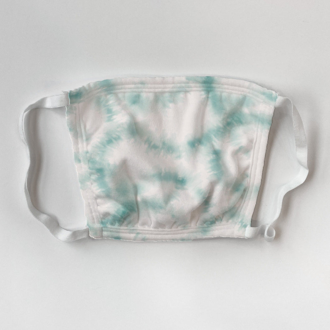 Kids' Teal Tie Dye Mask