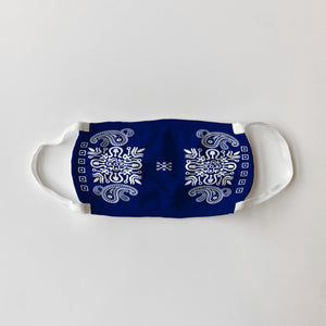 Navy Bandana Pattern Mask