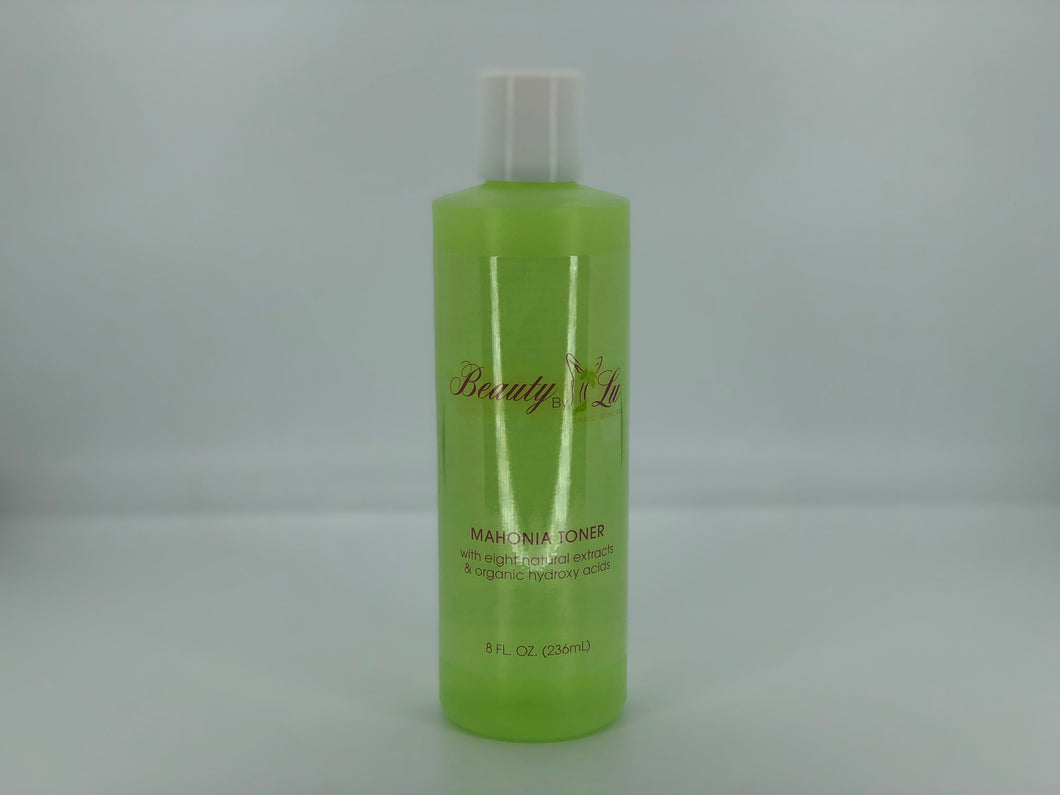 MAHONIA TONER with eight natural extracts & organic hydroxy acids