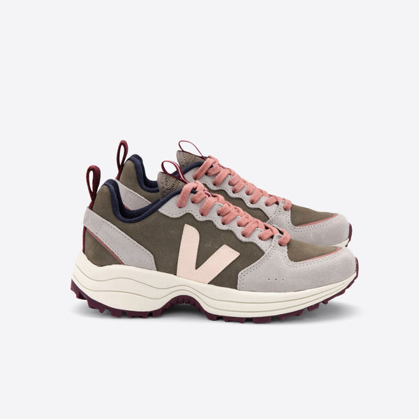 VEJA VENTURI SUEDE TRAINERS IN KHAKI SABLE OXFORD-GREY